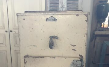old ice refrigerator