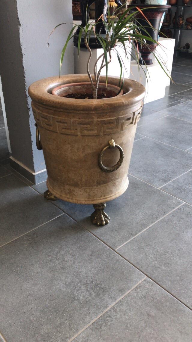 marble planter