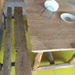 old table and bench
