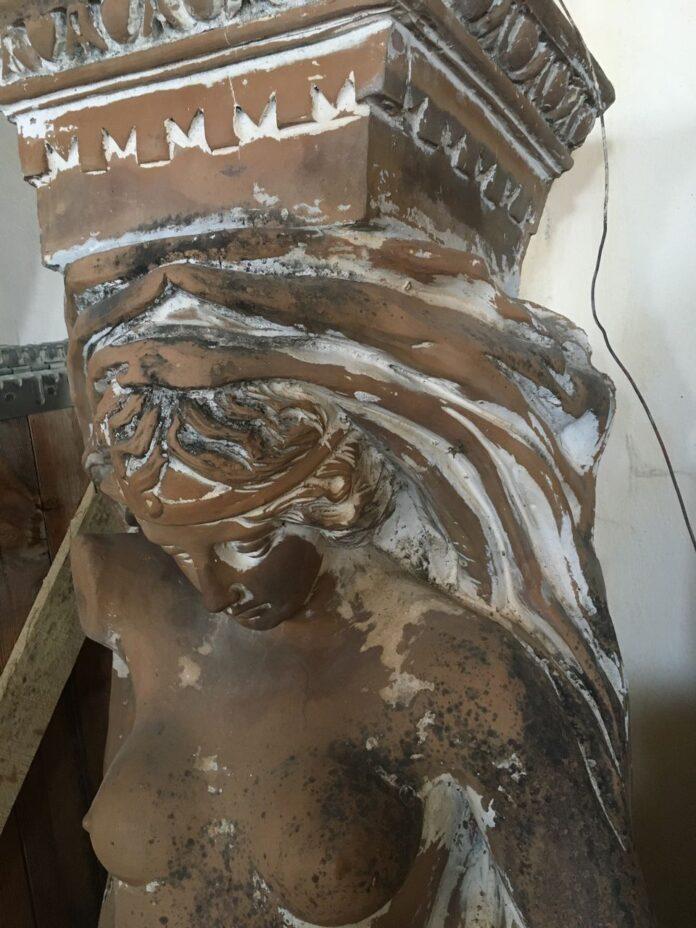 ceramic caryatid