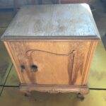 Old greek wooden bedside table