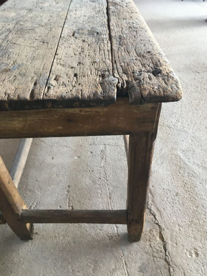 Antique working table, vintage furniture