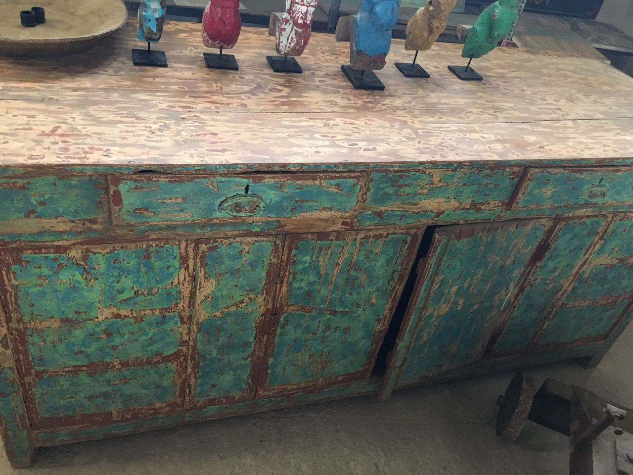 Buffet, old greek wooden furniture vintage