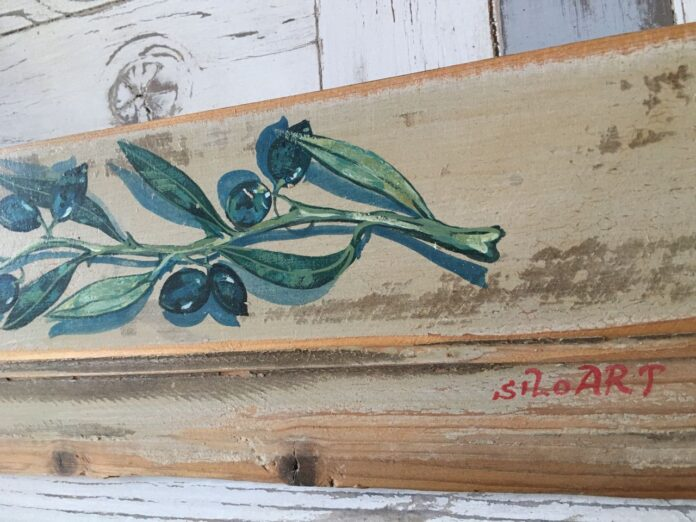 painting on old wood