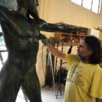 Poseidon bronze statue