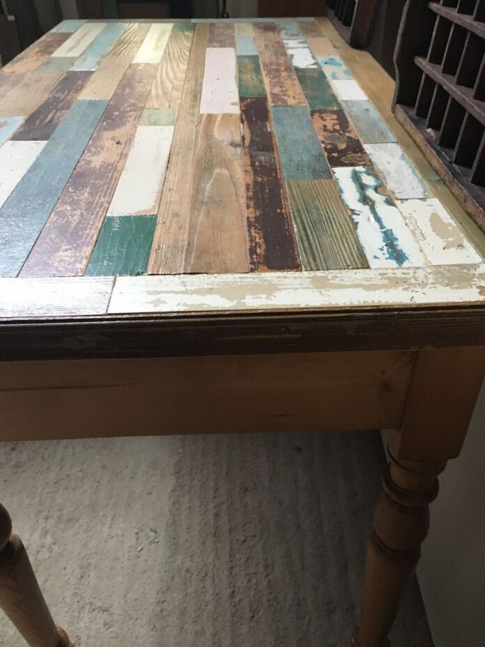 greek old office table