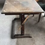 Old authentic desgnining table