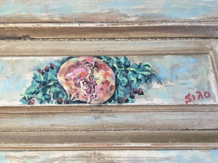 paintings on old wood