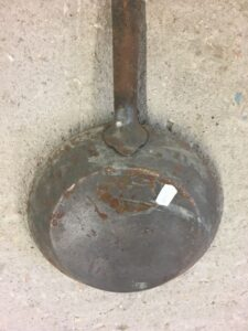 Frying pan, greek old bronze utensil