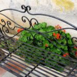 Greek old metal bench for two persons