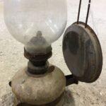 Lamp, old greek copper utensil, vintage decor