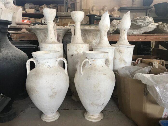 greek ceramic amphoras