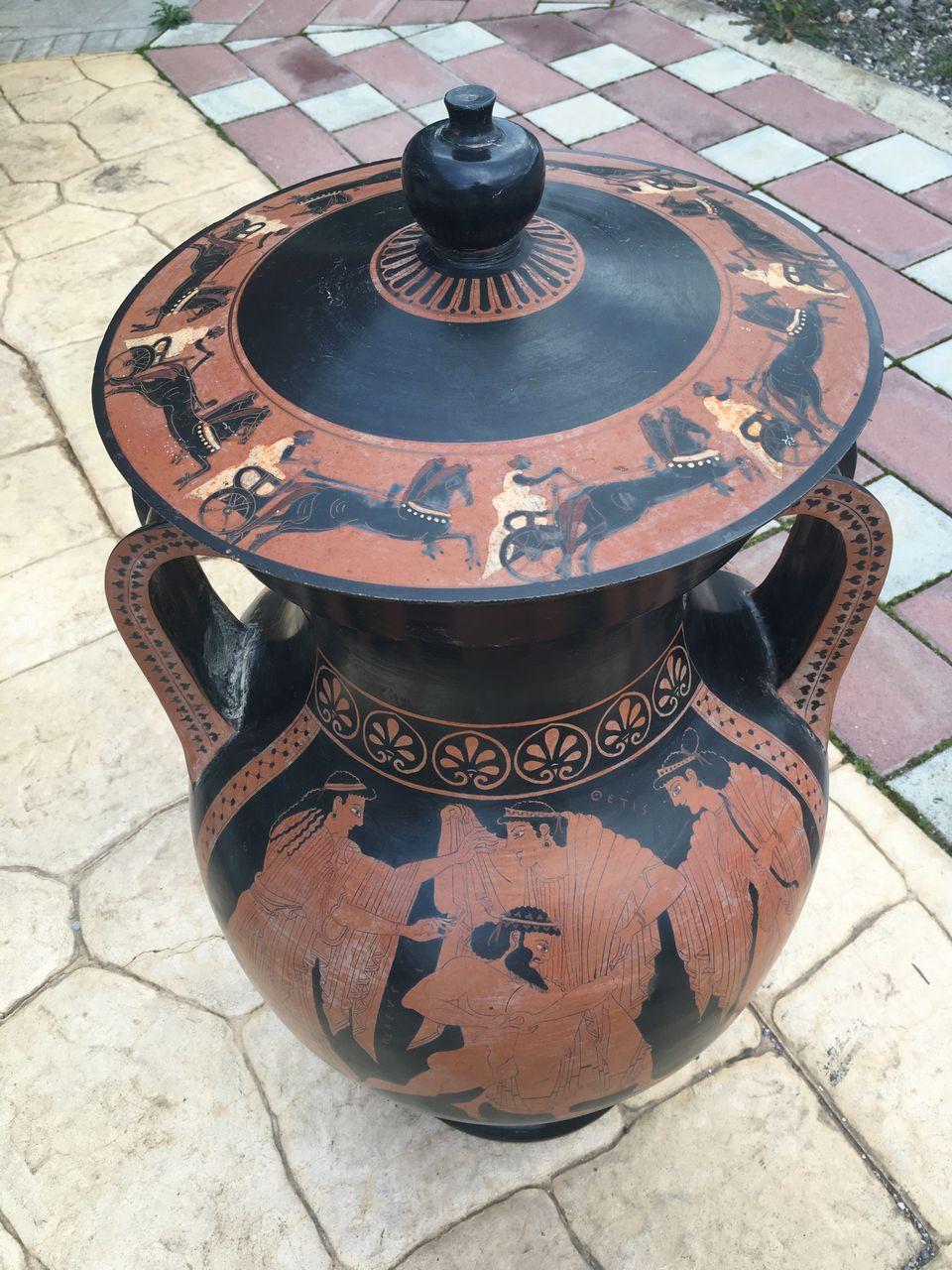 amphoreas ceramic pot made with the ancient technique