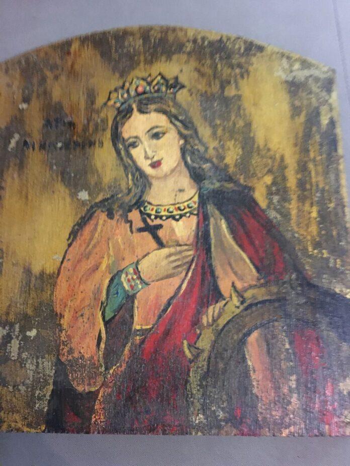 Αγία Αικατερίνη χειροποίητη εικόνα