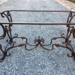 table hammered iron
