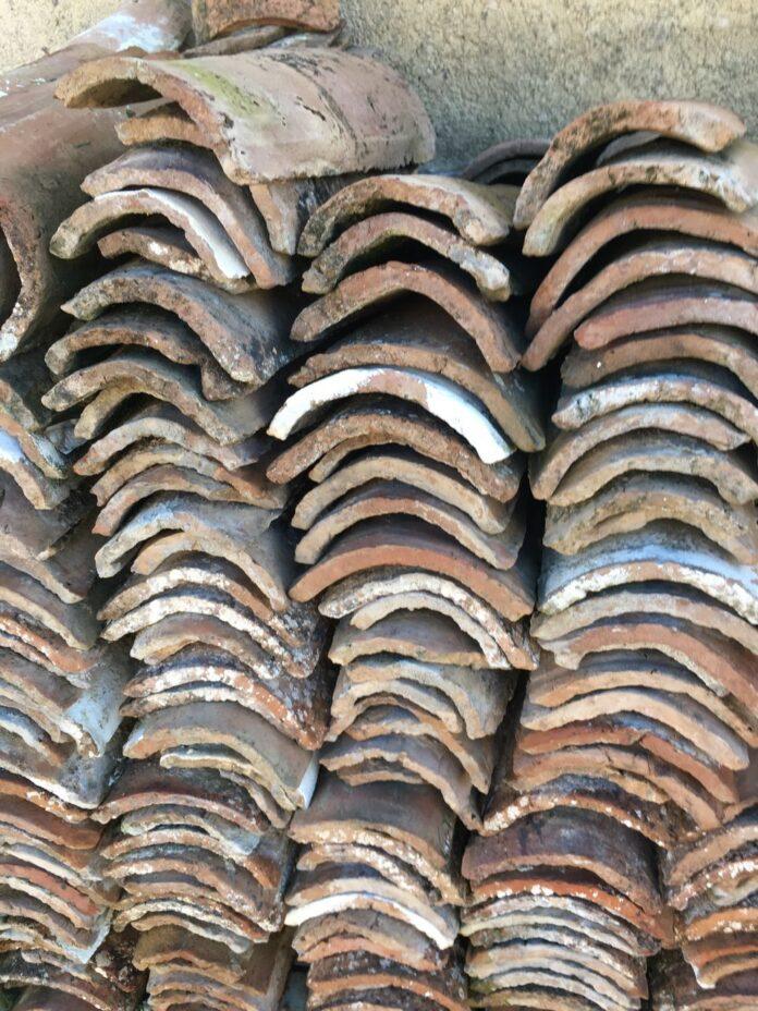 greek old roof tiles