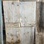 greek old doors, wood working two leaf door