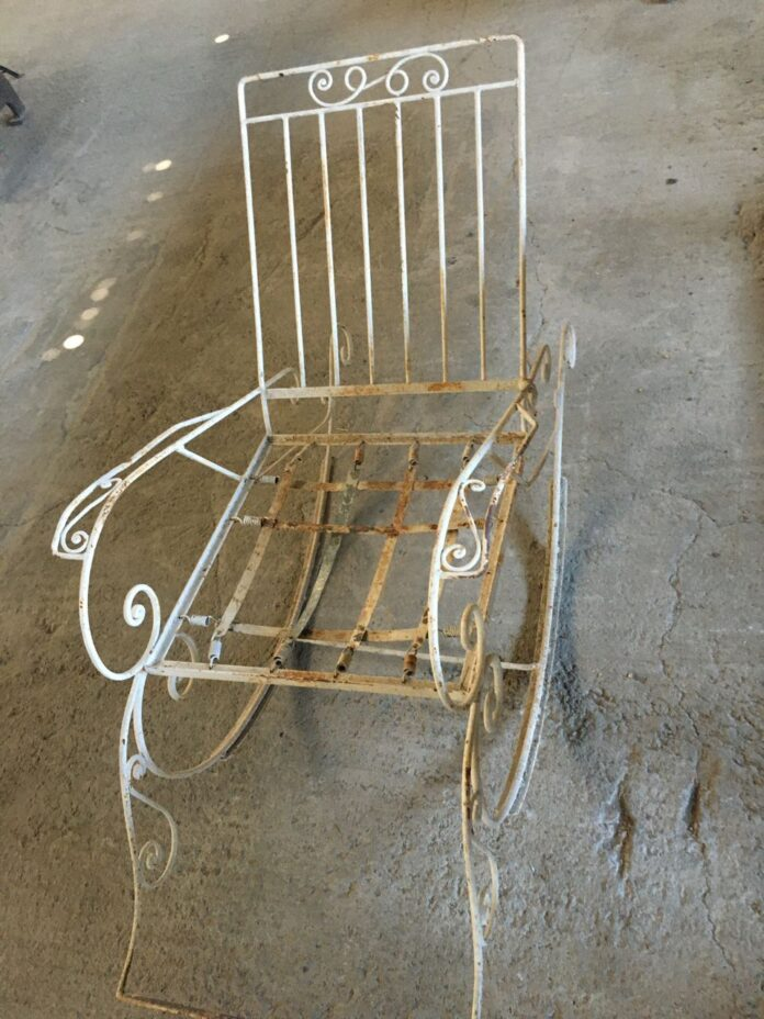 rocking chair fer forge